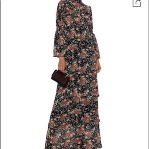 By Timo Floral Print Tiered Georgetta Maxi dress